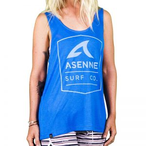 Asenne Surf Co. singlet blue