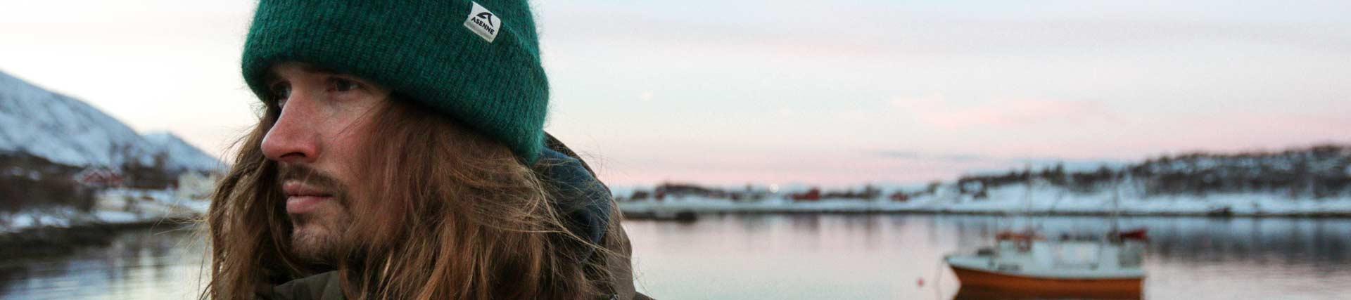 Asenne Mohair beanie in Lofoten